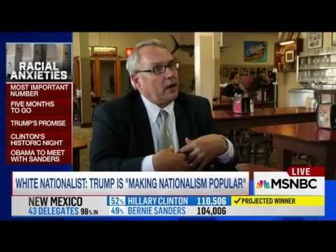 "AFP Chairman and Attorney William Johnson on MSNBC, ""Trump is making Nationalism popular."""