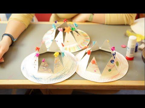 Bekannt Pappteller-Krone basteln - YouTube YY37