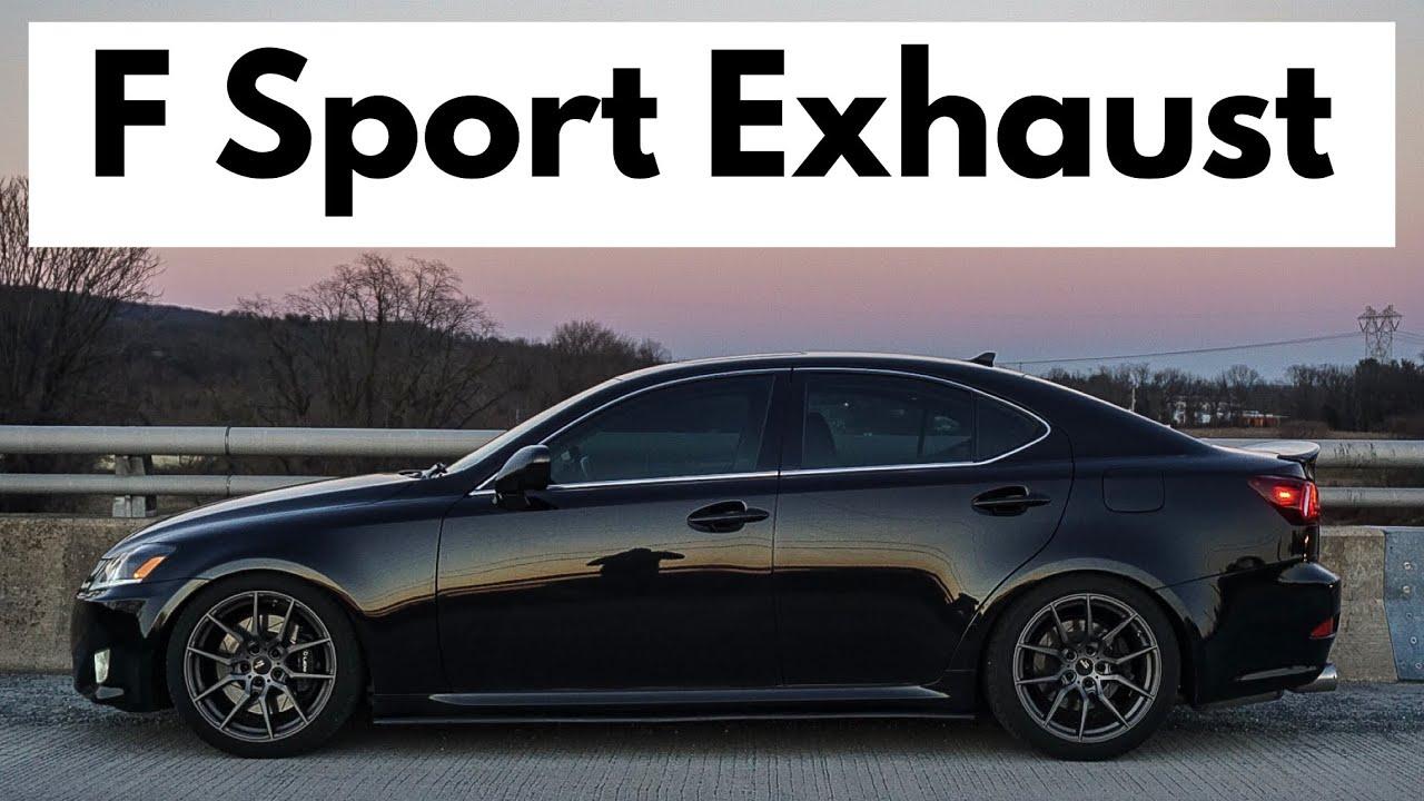 Lexus IS 350 Exhaust Sounds - F Sport Axleback and Resonator Delete