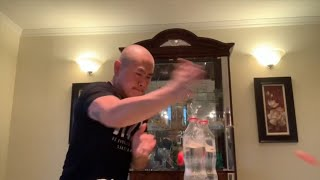 I Challenge All Of You! New Bottle Cap Challenge - 2 Punch 2 Bottle Cap In Less Then Half A Second.