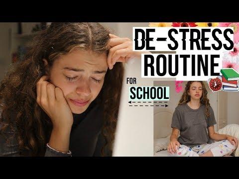 MY SCHOOL DE-STRESS ROUTINE 2018. 🌻 prioritise your mind x