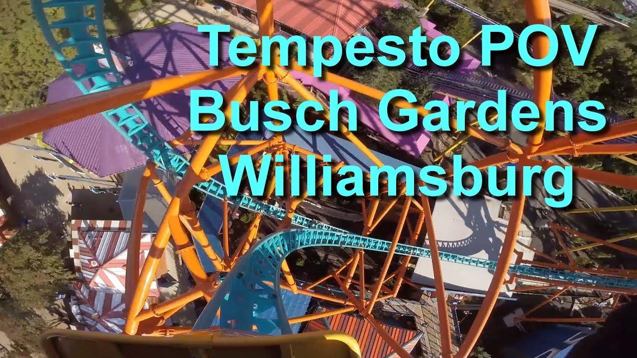 Tempesto On Ride Front Seat Pov Busch Gardens Williamsburg Gopro Youtube
