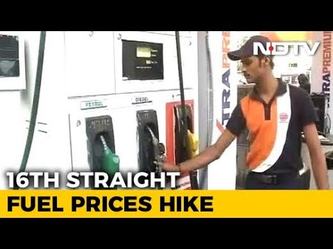 Petrol, Diesel Prices Hiked For 16th Day In A Row