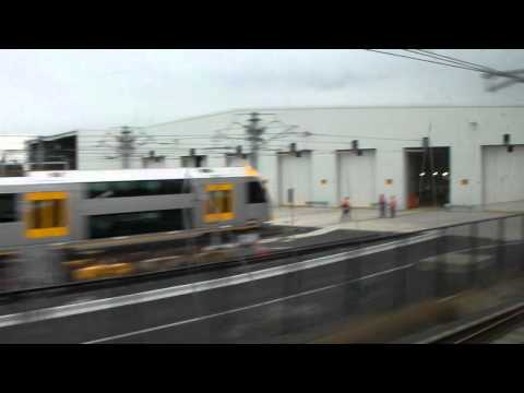 CityRail: Onboard view of Idled Trains at Auburn Maintenance Centre - JUNE 2011
