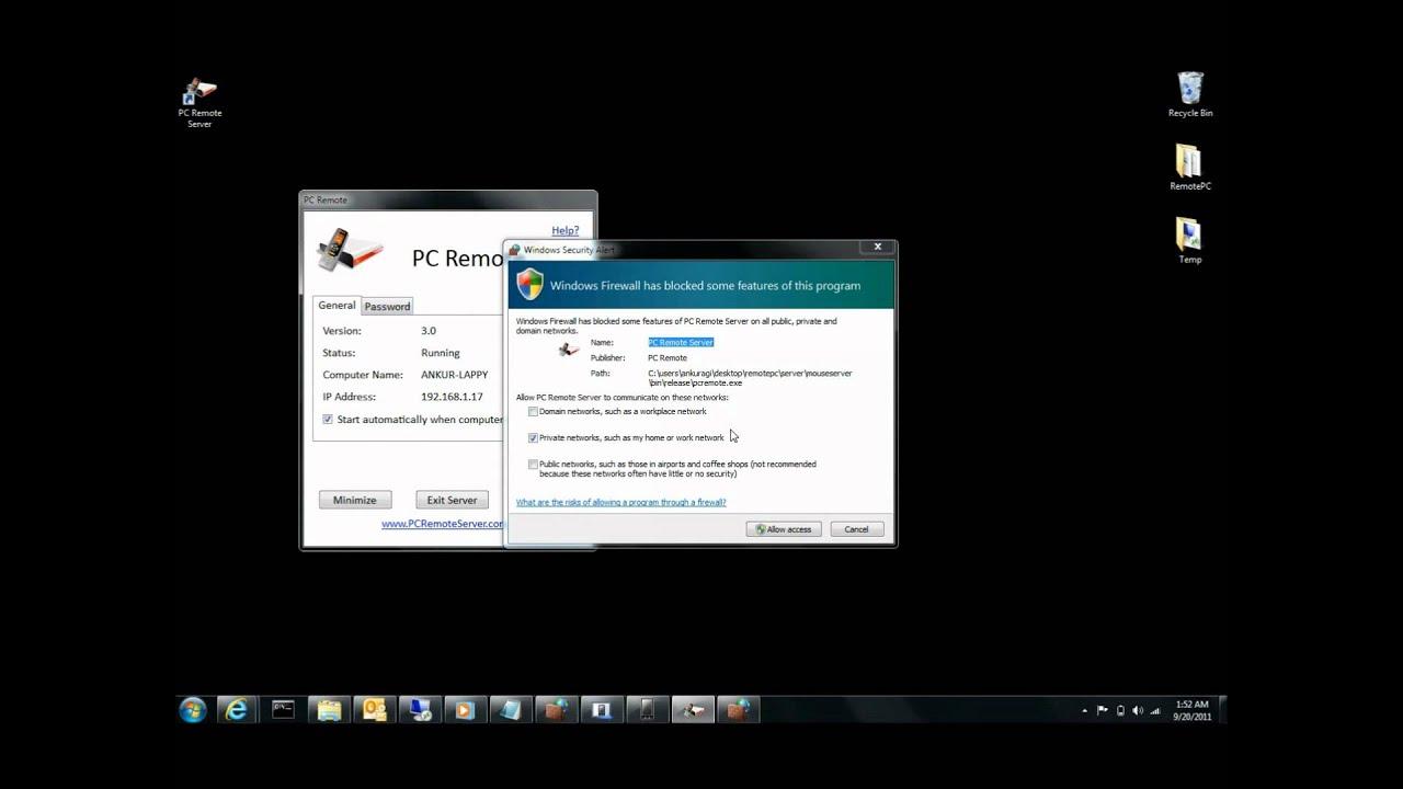Скачать pc remote server на пк