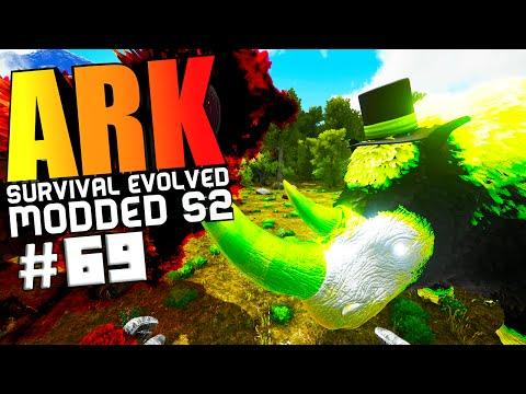 ARK Survival Evolved - RHINO WARDEN BOSS FIGHT, ALPHA TERROR BIRD TAMING Modded #69 (ARK Gameplay)
