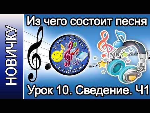 Из чего состоит песня на примере. Урок 10 - Сведение. Часть 1 | Новичку | Easy Music Learning