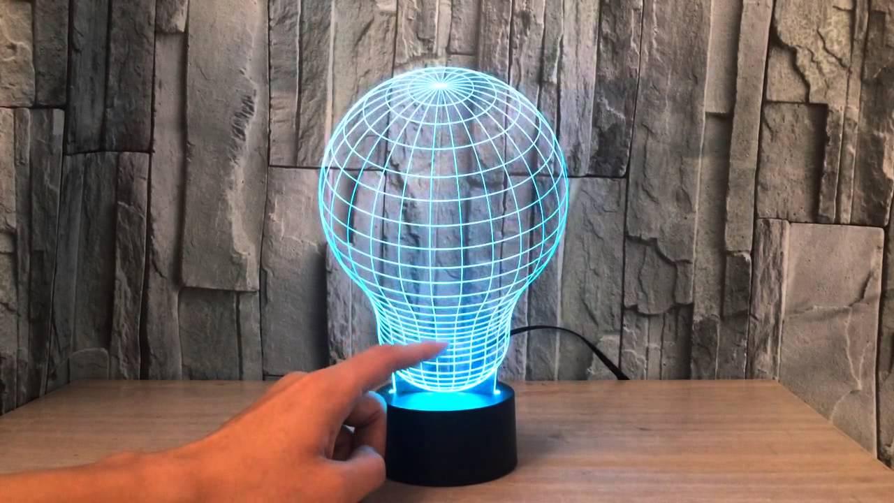 3d illusion led decorative light fullsun youtube - Lampe cercle led ...