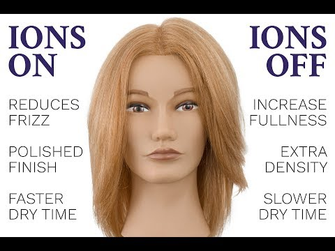 Do Ionic Hair Dryers Work? Blow Dry Comparison: Ions On VS Ions Off