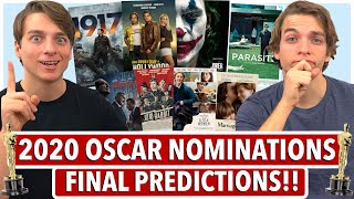 Final 2020 Oscar Nomination Predictions!!  All 24 Categories