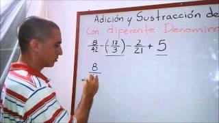 Adición y sustracción de números Racionales