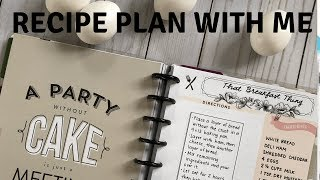 Recipe Plan with Me - The Happy Planner - Breakfast Recipe