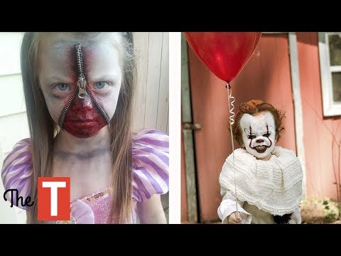 10 EPIC Kids Costume Ideas For Halloween Pennywise from IT movie, Pablo Escobar, Wonder Woman