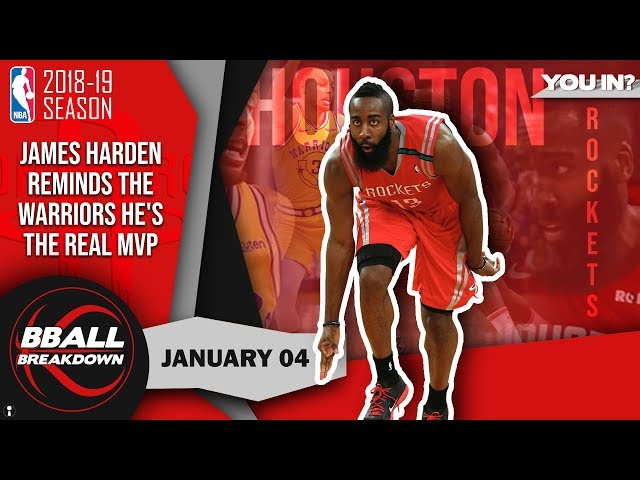 James Harden Reminds The Warriors He's The Real MVP