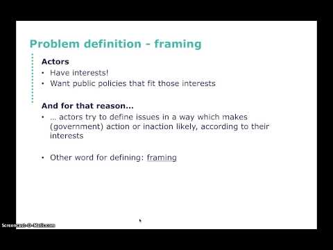 Problem definition / framing