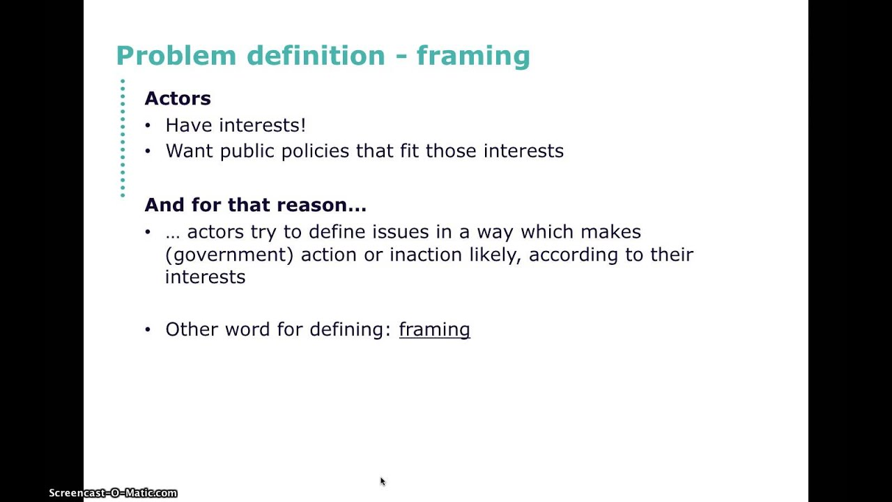 Problem definition / framing - YouTube