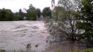 Hochwasser 2013 - Iller Kempten