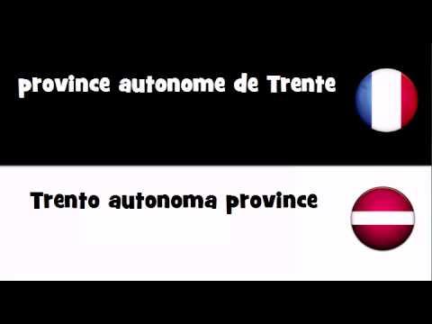 TRADUCTION EN 20 LANGUES = province autonome de Trente
