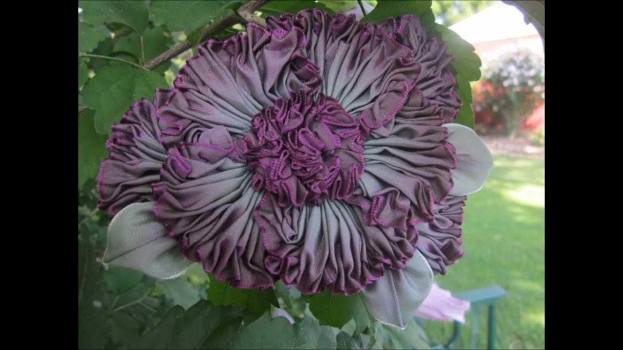 Grandma S Flower Garden Millinery Ribbon Flowers Youtube