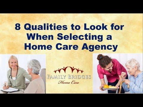 8 Qualities in a Cincinnati Home Health Care Agency