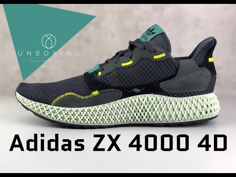 adidas-zx-4000-4d-'carbon-/-semi-solar-yellow'-|-unboxing-&-on-feet-|-fashion-shoes-|-2019