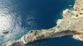 Алания Турция крепость Кале с высоты птичьего полета  Alanya Turkey Kalesi fortress