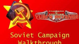 Command & Conquer: Red Alert 2 Yuri's Revenge - Soviet Campaign Full Walkthrough