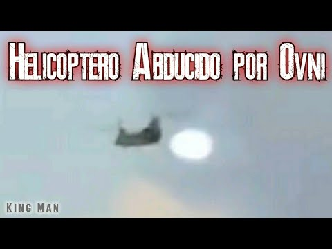 Momento preciso en que Helicoptero es abducido por Ovni