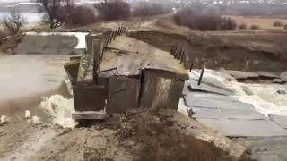 На відео потрапив прорив дамби у селі Волгоградської області