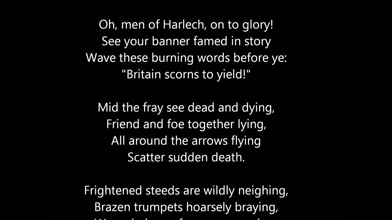 Men Of Harlech (1862 Version) - YouTube