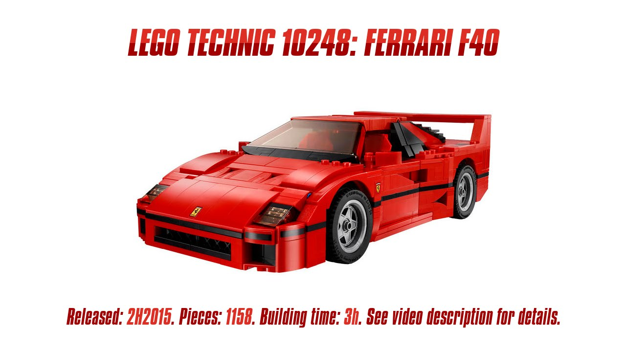 39 lego 10248 ferrari f40 39 unboxing speed build review. Black Bedroom Furniture Sets. Home Design Ideas