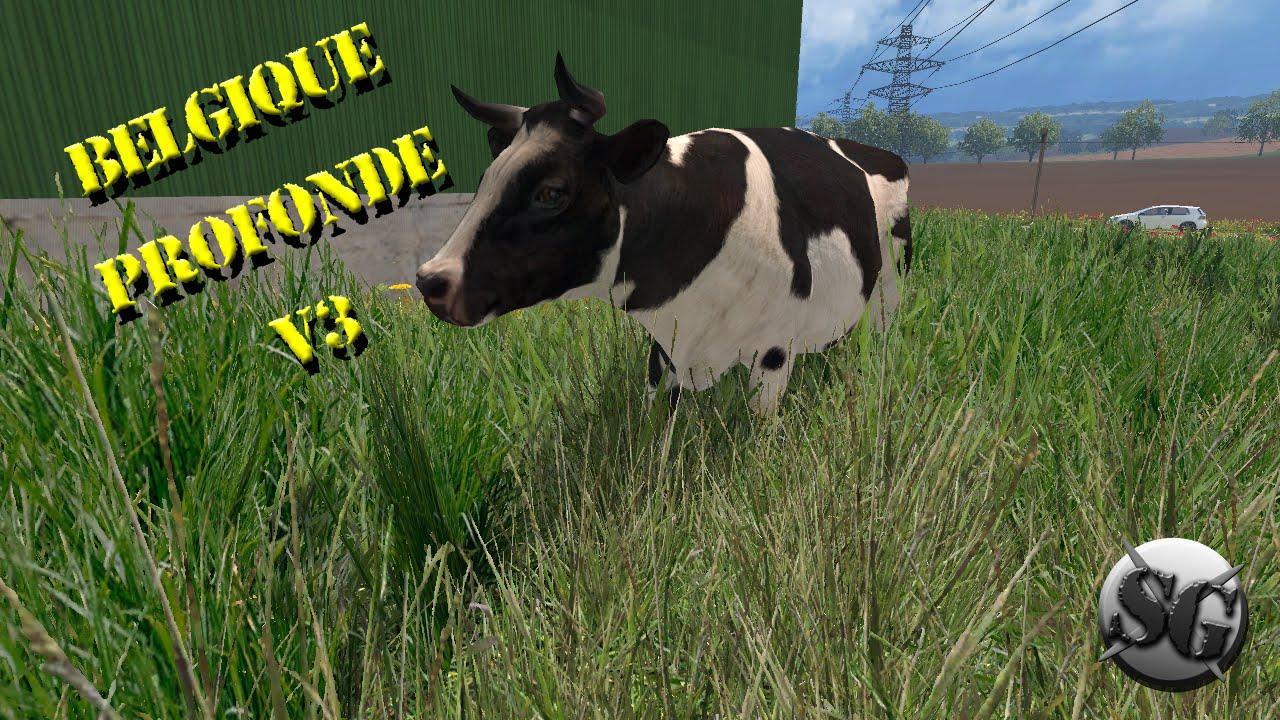 fs15 belgique profonde v3 la ferme belge on a enfin les vaches 9 youtube. Black Bedroom Furniture Sets. Home Design Ideas