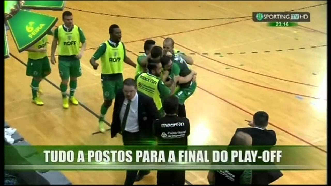 Futsal :: Play-off 1/2 Final 2º Jogo :: Braga - 0 x Sporting - 1 de 2014/2015