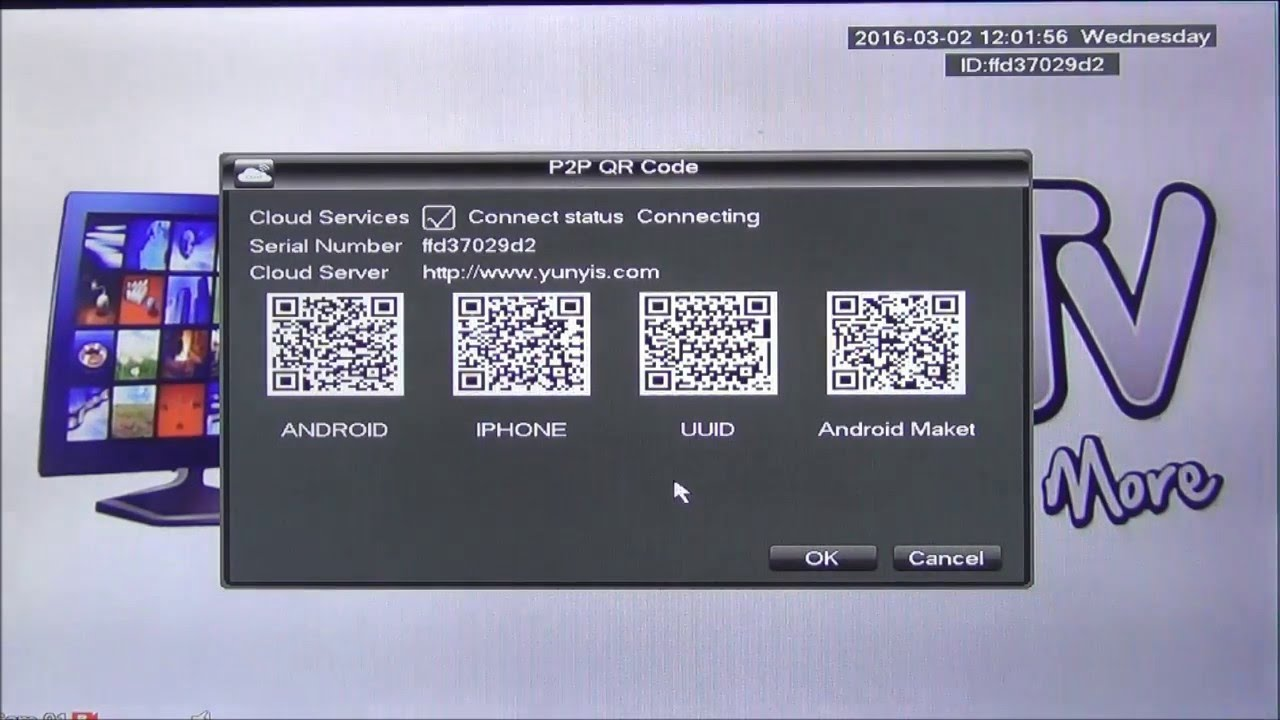 Using QR Codes to Configure N_Eye for P2P Remote Viewing of OAHD DVR