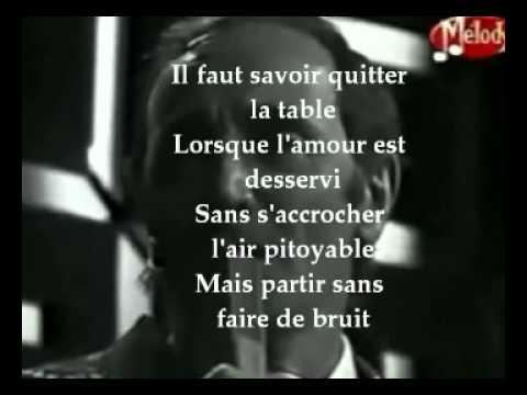 il faut savoir de charles aznavour avec paroles pr sent e par kais regaieg youtube. Black Bedroom Furniture Sets. Home Design Ideas
