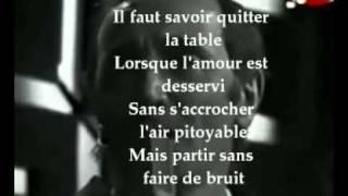 IL FAUT SAVOIR de CHARLES AZNAVOUR. avec paroles  Présentée par KAIS REGAIEG
