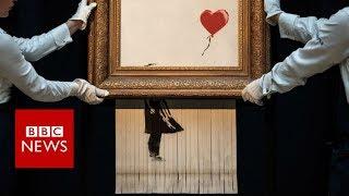 Banksy reveals shredding stunt practice - BBC News