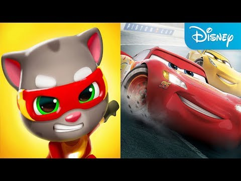 Talking Tom Hero Dash VS Disney Cars Lightning League