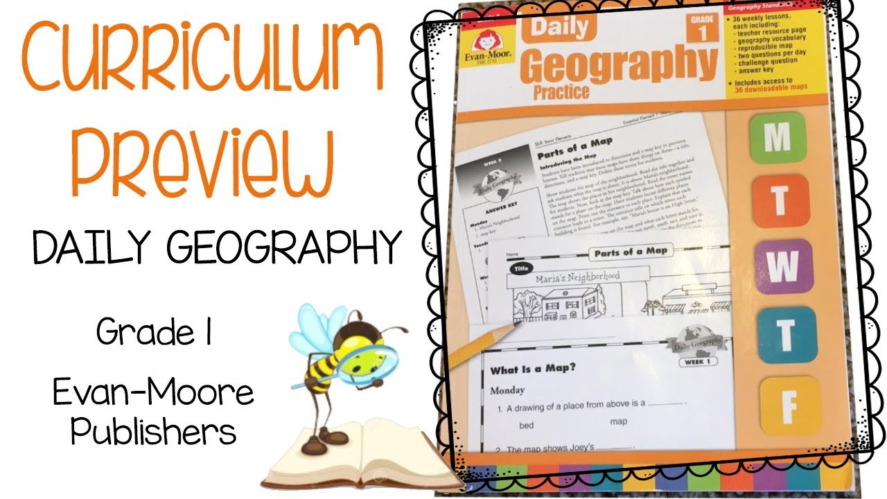 Curriculum Preview || 1st Grade Daily Geography Practice
