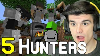 Reaction to Dream vs 5 Hunters (Dream Minecraft Manhunt)