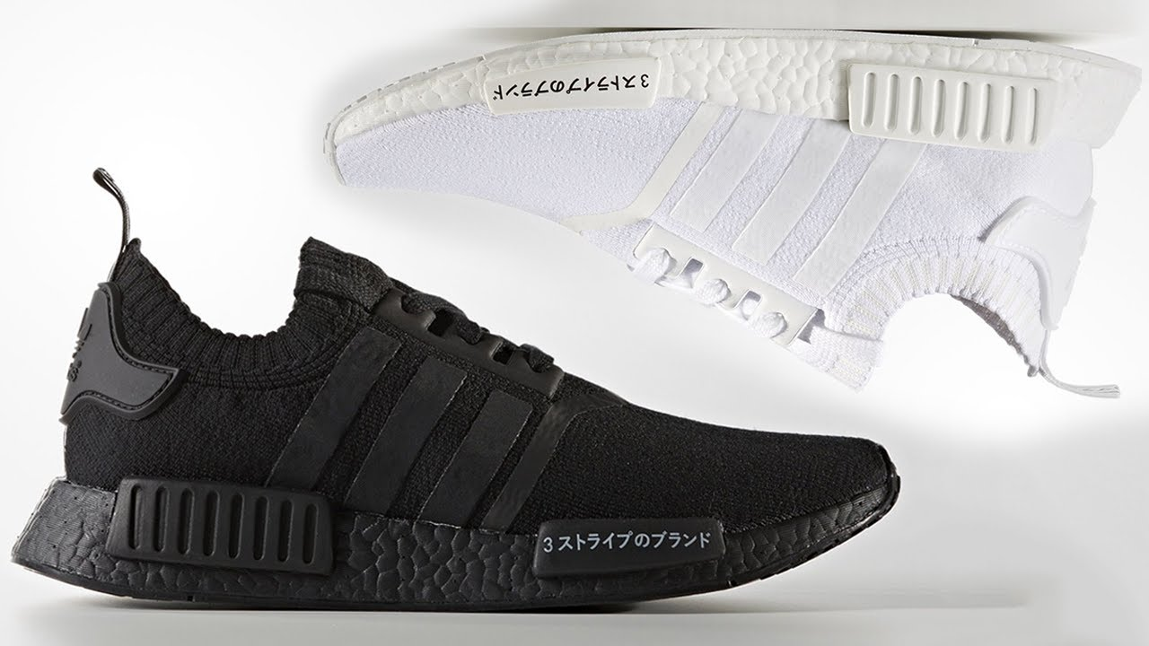 044122947  EXCLUSIVE  LOOK AT THE ADIDAS NMD R1 JAPAN RELEASING IN TRIPLE BLACK + TRIPLE  WHITE!!!