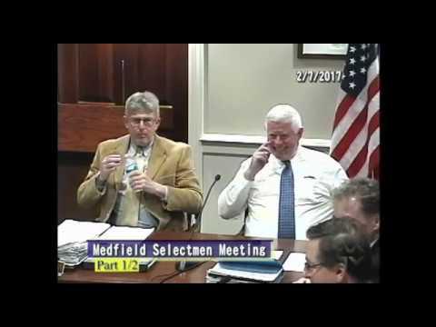 Medfield Selectmen (2-07-2017) - Part 1/2