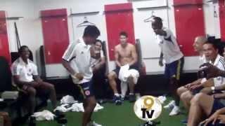 El Baile Privado de La Selección Colombia de Fútbol en el vestuario. Exclusivo de #La9TV
