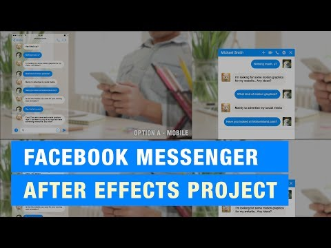 Facebook Messenger Animation | After Effects Project Template