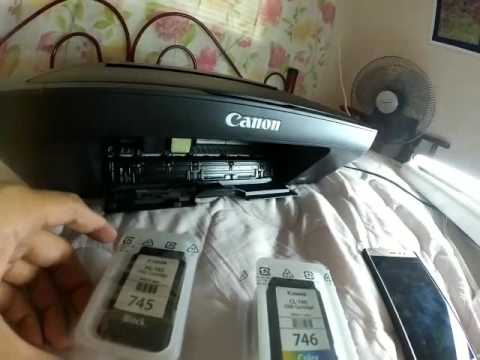 Canon printer MG2500 ink cartridges installation guide manual