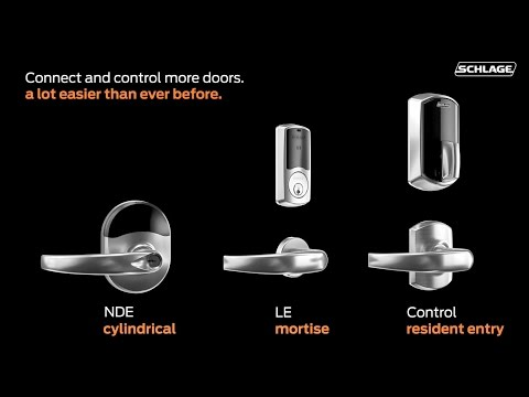Connect and Control More Doors with Schlage NDE, LE and Control wireless  locks