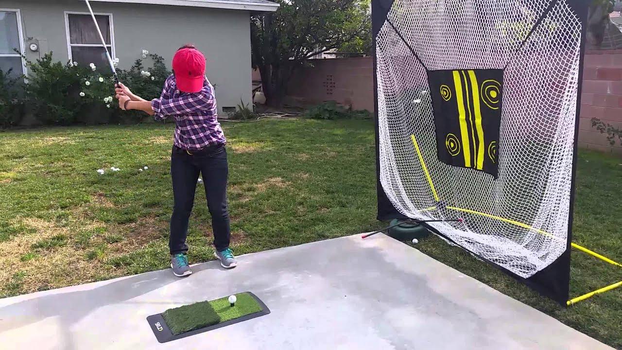 Sklz Hitting Mat And Sklz Golf Net Youtube