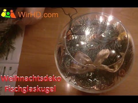 Fischglaskugel Weihnachts Deko Ideen Lichterkette Dekoration