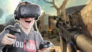 VIRTUAL REALITY SHOOTING GAME! | Overkill VR (HTC Vive Gameplay)