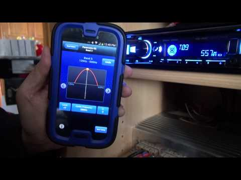 The Alpine TuneIt App working with Galaxy S4